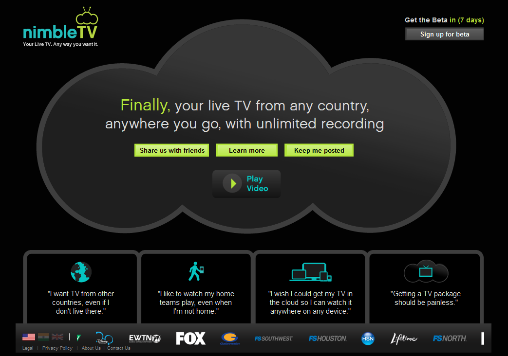 NimbleTV Beta Released – a revolution in Television!